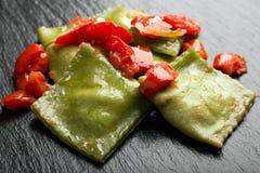 Green Italian ravioli Stock Image