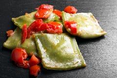 Green Italian ravioli Stock Images