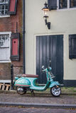 Green Italian Vespa Royalty Free Stock Photography