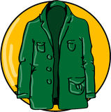Green jacket Royalty Free Stock Photography