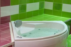Green jacuzzi stock photography