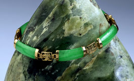 Green Jade Bangle. Stock Photography