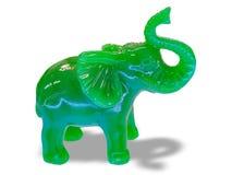 Green Jade Elephant. Green Jade Elephant , isolated on white background Royalty Free Stock Image