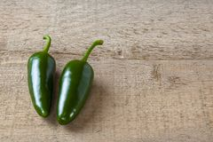 Green Jalapeno Chillies Royalty Free Stock Photos