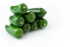 Green jalapeno Royalty Free Stock Images