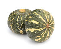 Green Japanese pumpkin isolated on the white background Stock Photo