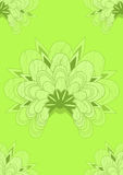 Green Japanese seamless wallpaper. A fresh lime green floral repeat background inspired by Japanese art Stock Images
