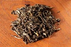 Green jasmine tea leaves Stock Image