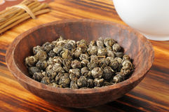 Green Jasmine tea pearls Royalty Free Stock Images