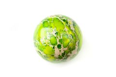 Green jasper sphere Royalty Free Stock Photography