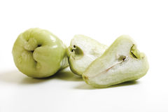 Green java apples (Syzygium samarangense or Eugenia javanica), close-up Royalty Free Stock Photo
