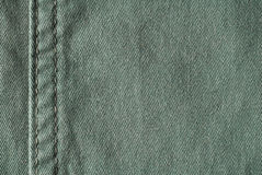 Green jeans. Detail - fabric Royalty Free Stock Photo