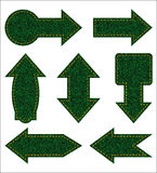 Green jeans arrows Stock Image