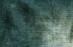 Green jeans cloth texture. Stock Photography