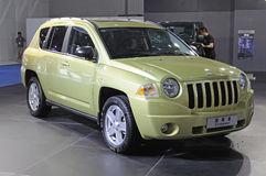 Green jeep compass suv Stock Photography