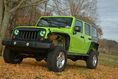 Green Jeep Royalty Free Stock Photos