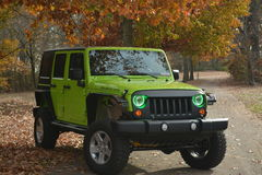 Green Jeep Royalty Free Stock Photography