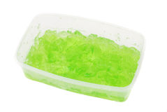 Green jelly Stock Image
