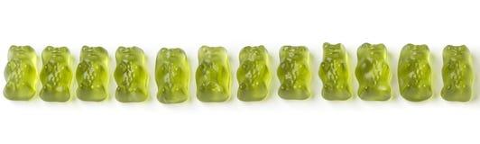 Green jelly bears Stock Photos