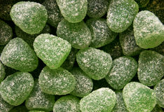 Green jelly candies Stock Images