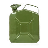 Green jerrycan Stock Image