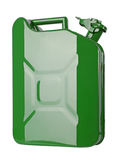 Green jerrycan Royalty Free Stock Images