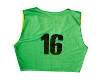 Green Jersey. A green sports jersey isolated on a white background Stock Photos