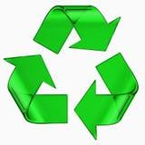 green jest symbolem szkła Zdjęcie Royalty Free