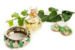 Green jewelry Stock Image