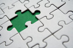 Green jigsaw Royalty Free Stock Photo