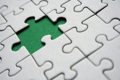 Green jigsaw royalty free stock photo