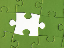 Green Jigsaw Puzzle Royalty Free Stock Images
