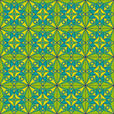 Green Jugendstil Pattern Royalty Free Stock Images