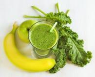 Green juice. Healthy drink. Stock Photos