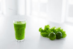 Green Juice. Healthy Eating. Detox Smoothie. Food, Diet Concept. Stock Photo