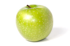 Green juicy apple Stock Images