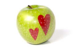 Green juicy apple Stock Photo