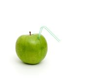 Green juicy apple Royalty Free Stock Photos