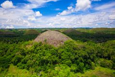 Green juicy and colorful Chocolate Hills in Bohol Royalty Free Stock Photos