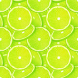 Green juicy lime slice vector seamless pattern Stock Images