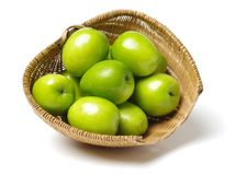 Green jujube. Isolated on white background Royalty Free Stock Photography