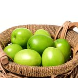 Green jujube. Isolated  on the white background Royalty Free Stock Images