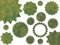 Green Jungle British DPM Style Camouflage Button Stock Photos