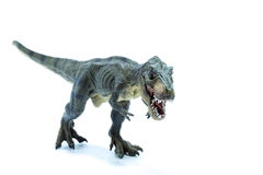 Green Jurassic Dinosaur Tyrannosaurus Rex with open mouth runnin Stock Photography