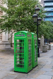 Green K6 telephone boxes London Stock Image