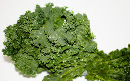 Green Kale in the sink Royalty Free Stock Photography