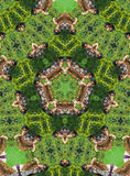 Green kaleidoscope Royalty Free Stock Photography