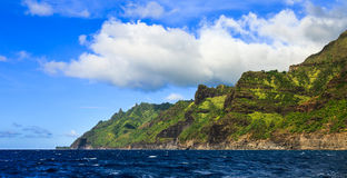 Green Kauai Coastline Stock Photo