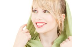 Green kerchief Royalty Free Stock Photos