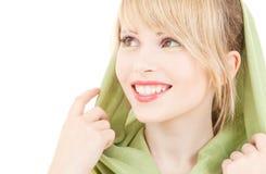 Green kerchief Royalty Free Stock Photos